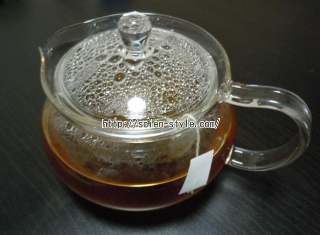 5時間置いた美甘麗茶